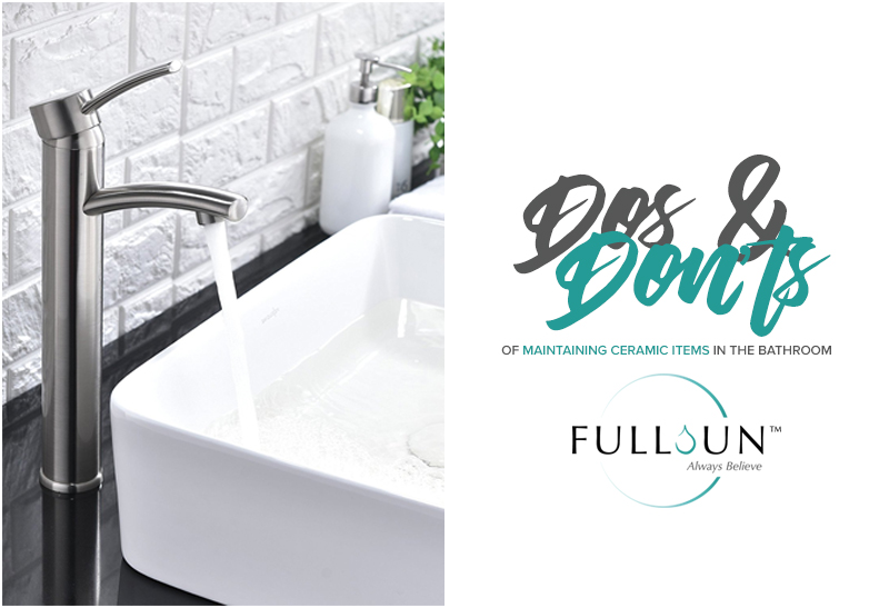 Most bathrooms are composed of ceramic sanitary wares and other porcelain accessories. This is because these materials tend to be the easiest one to clean.