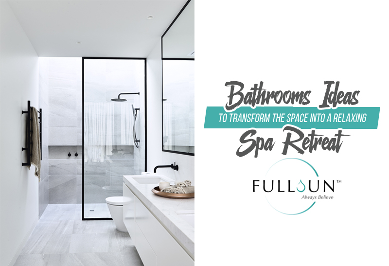 Today, bathrooms have become a place where people retreat to when they want to relax and soak their stress away. Here are some tips for you to do that