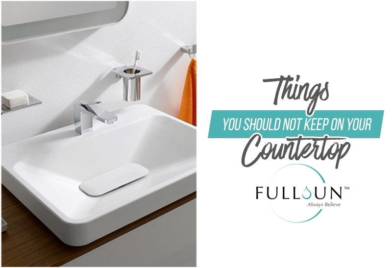 Some things should be off limits your countertop. This is due to the humid environment that bathrooms generally have which doesn't work well with most