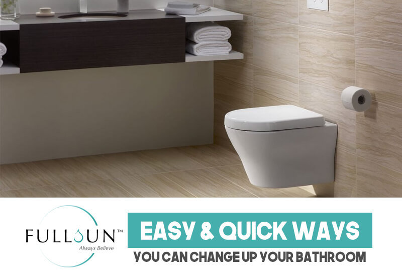 The little tweaks here and there using your creativity and personality as well as upgrading your sanitary wares and fittings to make them more convenient